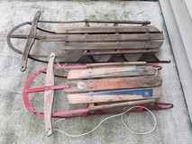 Vintage Monoplane  and Champion sleds (see description) in Joliet, Illinois
