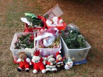 5 totes and christmas stuff in Fort Knox, Kentucky