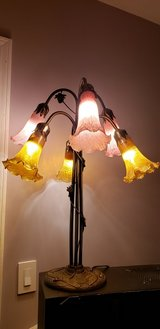 Dale Tiffany Luster Gold Lily 6 Light Table Lamp in Antique Brass 1409 in Naperville, Illinois