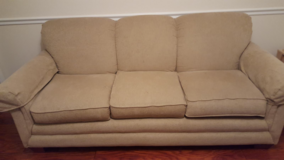 3 seat La-Z-Boy couch, beige color in Fort Campbell, Kentucky