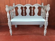 Up cycled bench in Plainfield, Illinois