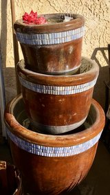 Triple bucket fountain in Yucca Valley, California
