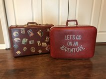 Vintage suitcases in Plainfield, Illinois