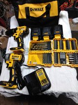 20v dewalt Brushless motor set and bits in Clarksville, Tennessee