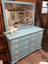 solid maple 8 drawer dresser w/mirror in Camp Lejeune, North Carolina
