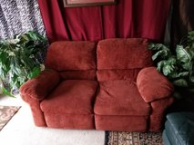 Full length micro fiber double recliner couch in Clarksville, Tennessee