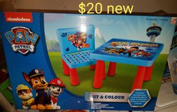 Paw patrol table with 1 chair. NEW in Fairfield, California