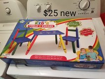 Crayon theme table with 2 chairs in Fairfield, California
