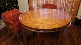 Pecan Wood Table with 4 chairs in Joliet, Illinois