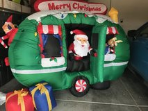 Inflatable Christmas Santa in RV in Las Vegas, Nevada