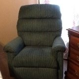 Cloth recliners one burgundy one blue in Clarksville, Tennessee