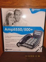 Geemarc Ampli550/500+ Digital Amplified Telephone Hearing Aid Compatible Phone in Joliet, Illinois