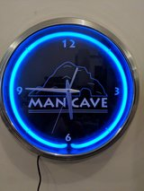 Man Cave clock in Orland Park, Illinois