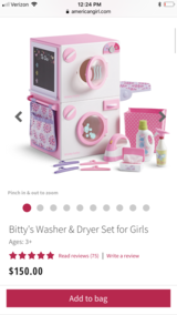 American Girl Bitty Baby Washer And Dryer NIB in Clarksville, Tennessee