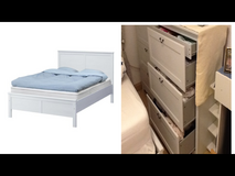 Aspelund Bed with two chest of drawer in Stuttgart, GE