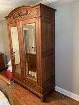 Antique Oak Armoire in The Woodlands, Texas