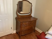 Antique Tiger Oak dresser in The Woodlands, Texas