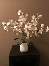 Silk Tulips In White Vase Floral Arrangement in Pasadena, Texas