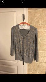 Gray sweater with gold accents in Bolingbrook, Illinois