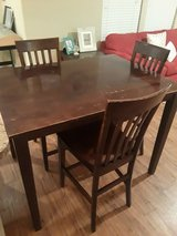 Counter Height Table And Chairs in Spring, Texas