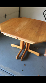 Oak Kitchen Table with Expandable Leaf in Oswego, Illinois