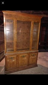 looking for a solid wood china hutch that needs repairs for a project in Leesville, Louisiana