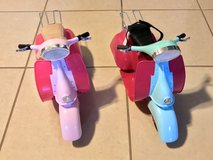"""2 Scooters for 18"""" Dolls EUC Super Cute! in Fairfield, California"""