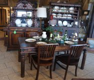 solid mango wood dining room set with 4 chairs in Stuttgart, GE