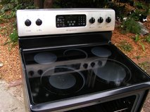 Range Stove Electric- Stainless Steel Black  Glass Top By Frigidaire in Macon, Georgia