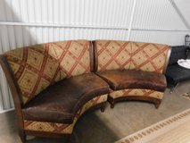 Walter E Smithe Upholstered Curved Loveseat Settee Armless in Westmont, Illinois