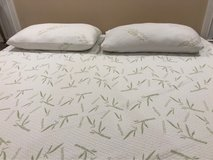 gel top foam king bed & ashley king bed frame in Fort Campbell, Kentucky