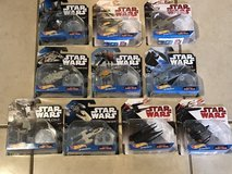 10 Different Star Wars Hot Wheels Die Cast Vehicles New in Packages in Fairfield, California