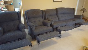 couch and 2 recliners in Aurora, Illinois