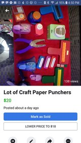 Lot of Craft Paper Punchers in Chicago, Illinois