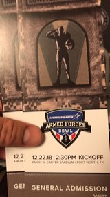 Armed Forces Bowl Tickets in Dyess AFB, Texas