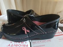 Dansko Pro Patent Leather Clog pink ribbon 9m in Travis AFB, California