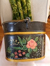 vtg 1212 bucket tole painted in Fairfield, California