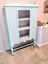Antique signed chalk painted cabinet in Cherry Point, North Carolina