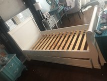 Pottery Barn twin trundle sleigh bed in The Woodlands, Texas