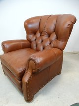 Traditional Brown Leather Recliner in Pearland, Texas