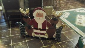 santa and company fireplace screen in Orland Park, Illinois