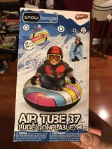 Sledding tube in Chicago, Illinois