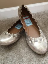 Gold ballet flat shoes in Aurora, Illinois