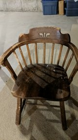 wood chair in Chicago, Illinois