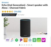 Amazon  Echo (2nd Generation) - Smart speaker with Alexa - Charcoal Fabric in Fairfax, Virginia