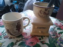 Vtg newspaper coffee spoon decanter and vtg mug tan in Fort Bliss, Texas