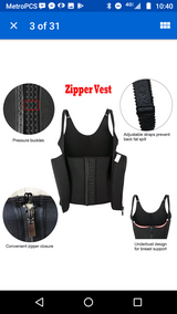 New 3XL waist trainer corset hook and zip 16 18 black exercise vest in Fort Bliss, Texas
