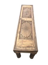 Low Console Table Hand Carved Chakra Window Panel in Birmingham, Alabama
