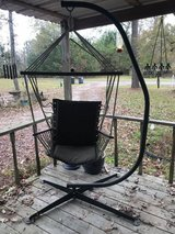 Hanging Hammock Chair Black w/Metal Frame in Cleveland, Texas
