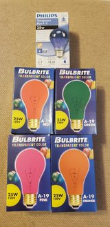Colored Light Bulbs in Chicago, Illinois